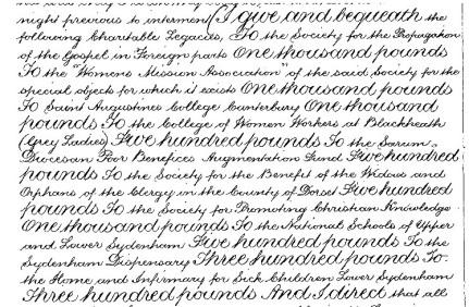 Susannah Huxtable charitable legacies