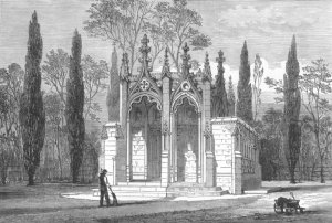 surrey-princess-charlotte-s-mausoleum-claremont-antique-print-1882-249264-p